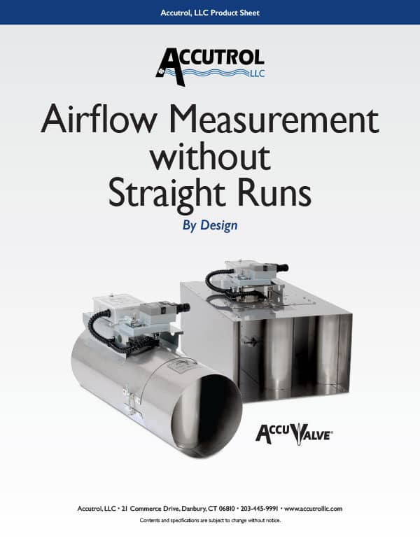 Airflow Measurement Without Straight Runs