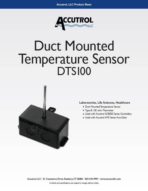 DTS100 Duct Temperature Sensor Product Sheet