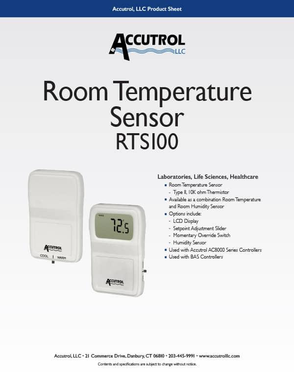 RTS100 Room Temperature Sensor Product Sheet